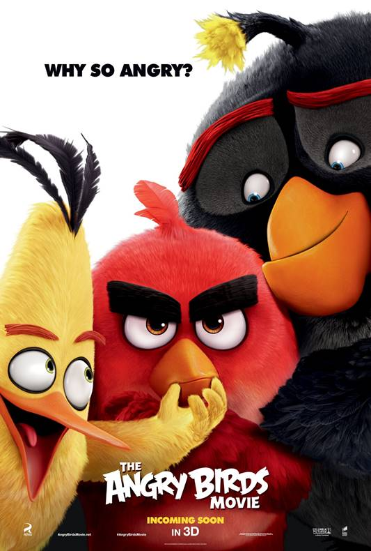 "April 8 – Kid's Movie Night featuring, ""Angry Birds"""