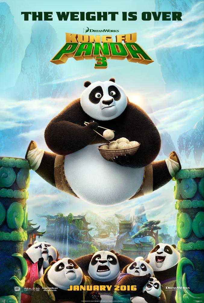 """Aug. 27 Kid's movie night featuring, """"Kung Fu Panda 3"""""""